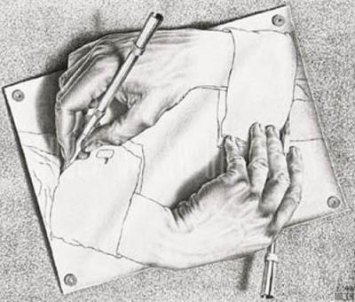 Drawing hands escher